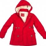 zarif kırmızı kapişonlu kaşe 2013 kışlık kız çocuk mont modeli